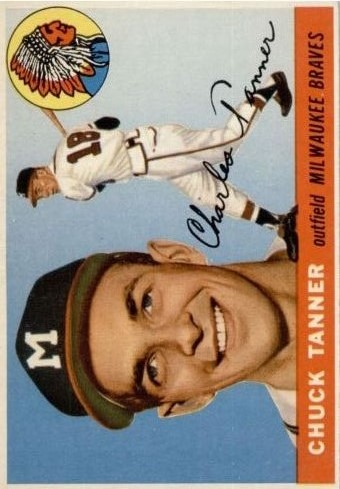 1955 Topps #161 Chuck Tanner RC