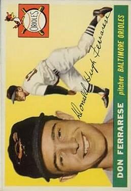 1955 Topps #185 Don Ferrarese RC