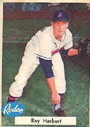 1955 A's Rodeo Meats #18 Ray Herbert