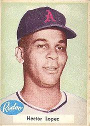 1955 A's Rodeo Meats #23 Hector Lopez