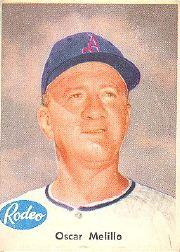 1955 A's Rodeo Meats #24 Oscar Melillo CO