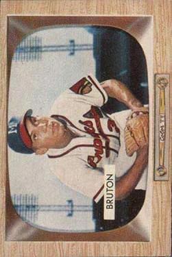 1955 Bowman #11 Bill Bruton