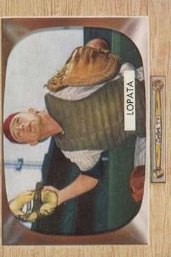1955 Bowman #18 Stan Lopata