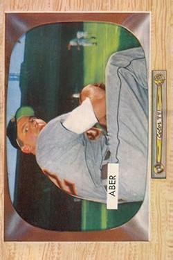 1955 Bowman #24 Al Aber