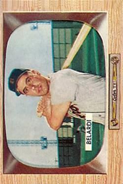 1955 Bowman #36 Wayne Belardi RC