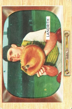 1955 Bowman #50 Hobie Landrith