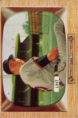 1955 Bowman #62 Royce Lint RC