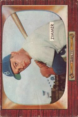 1955 Bowman #65 Don Zimmer RC