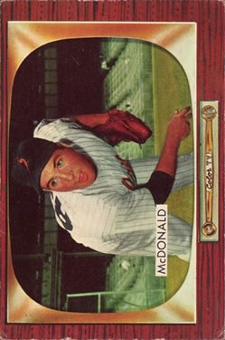 1955 Bowman #77 Jim McDonald RC
