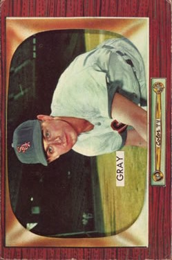 1955 Bowman #86 Ted Gray