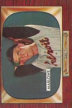 1955 Bowman #91 Dick Marlowe RC