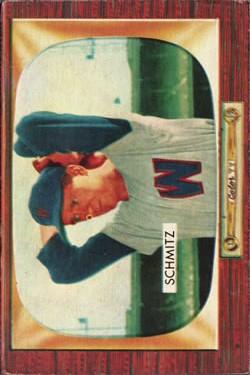 1955 Bowman #105 Johnny Schmitz