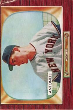 1955 Bowman #124 Johnny Antonelli