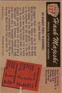 1955 Bowman #127 Hank Majeski back image
