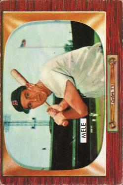 1955 Bowman #147 Sam Mele