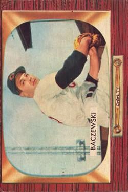 1955 Bowman #190 Fred Baczewski