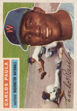 1956 Topps #4 Carlos Paula
