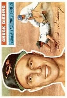 1956 Topps #19 Chuck Diering DP
