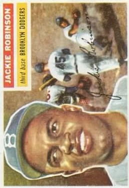 1956 Topps #30 Jackie Robinson DP
