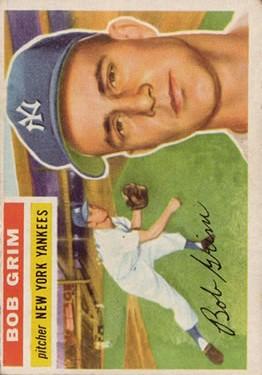 1956 Topps #52 Bob Grim DP
