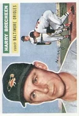 1956 Topps #229 Harry Brecheen CO