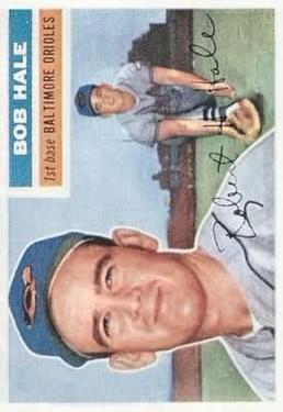 1956 Topps #231 Bob Hale RC