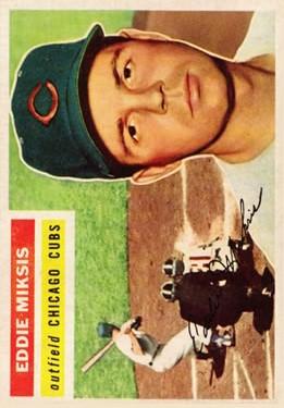 1956 Topps #285 Eddie Miksis