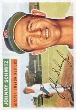 1956 Topps #298 Johnny Schmitz