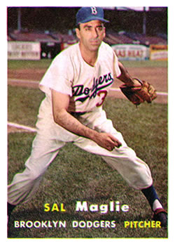 1957 Topps #5 Sal Maglie
