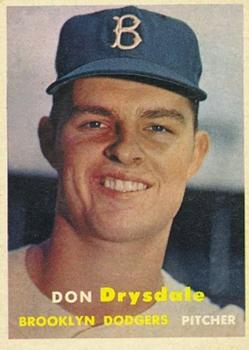 1957 Topps #18 Don Drysdale RC