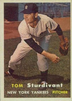 1957 Topps #34 Tom Sturdivant RC