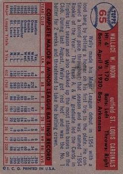 1957 Topps #65 Wally Moon back image