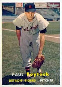 1957 Topps #77 Paul Foytack RC