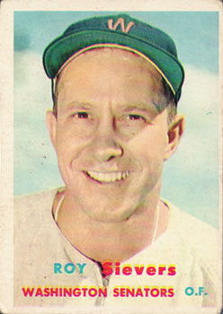 1957 Topps #89 Roy Sievers