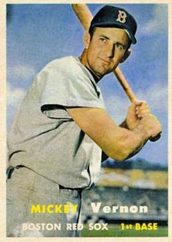 1957 Topps #92 Mickey Vernon