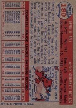 1957 Topps #180 Gus Bell back image