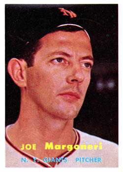 1957 Topps #191 Joe Margoneri RC
