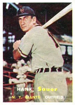 1957 Topps #197 Hank Sauer