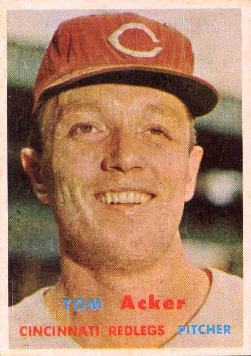 1957 Topps #219 Tom Acker RC