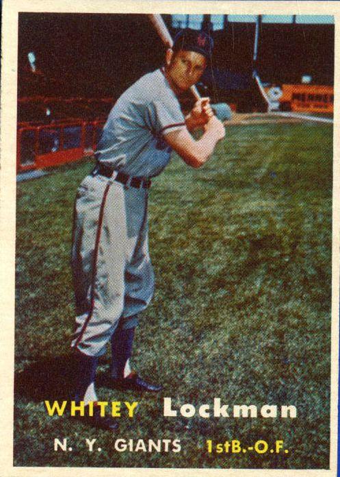 1957 Topps #232 Whitey Lockman