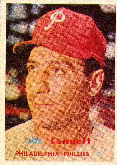 1957 Topps #241 Joe Lonnett RC