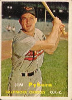 1957 Topps #276 Jim Pyburn RC
