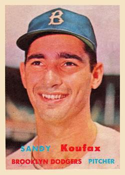 1957 Topps #302 Sandy Koufax DP