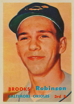 1957 Topps #328 Brooks Robinson RC
