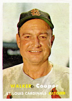 1957 Topps #380 Walker Cooper