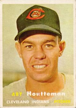 1957 Topps #385 Art Houtteman