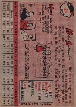 1958 Topps #24A Hobie Landrith back image