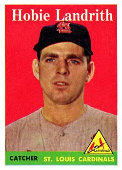 1958 Topps #24A Hobie Landrith