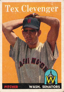 1958 Topps #31 Tex Clevenger RC