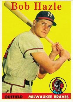 1958 Topps #83 Bob Hazle RC